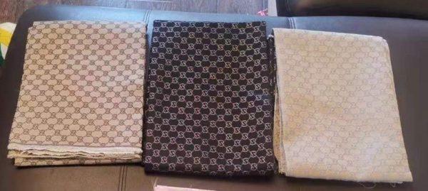RARE Gucci Jacquard Monogram Print in GREEN Designer Gucci Fabric/Jacket Jacquard Fabric/Jacquard Couture Fabric Various Colours Available 6 ⋆ Rozitta Rapetti