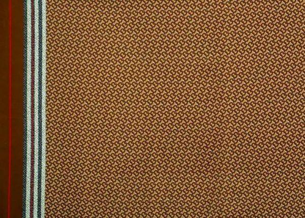 Haute Couture Italian Designer Mulberry Silk Double Crepe B print,COFFEE colour/Pure Mulberry Silk Fabric/Fashion show silk fabric 6