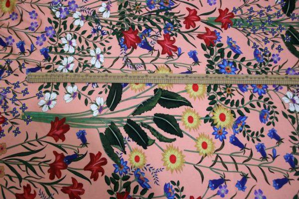 New Collection GG Designer Fabric #2Pink Silk Stretch Satin Italian Fabric/Haute Couture Fabric 100% Silk Digital Inkjet /Fashion Fabric 9