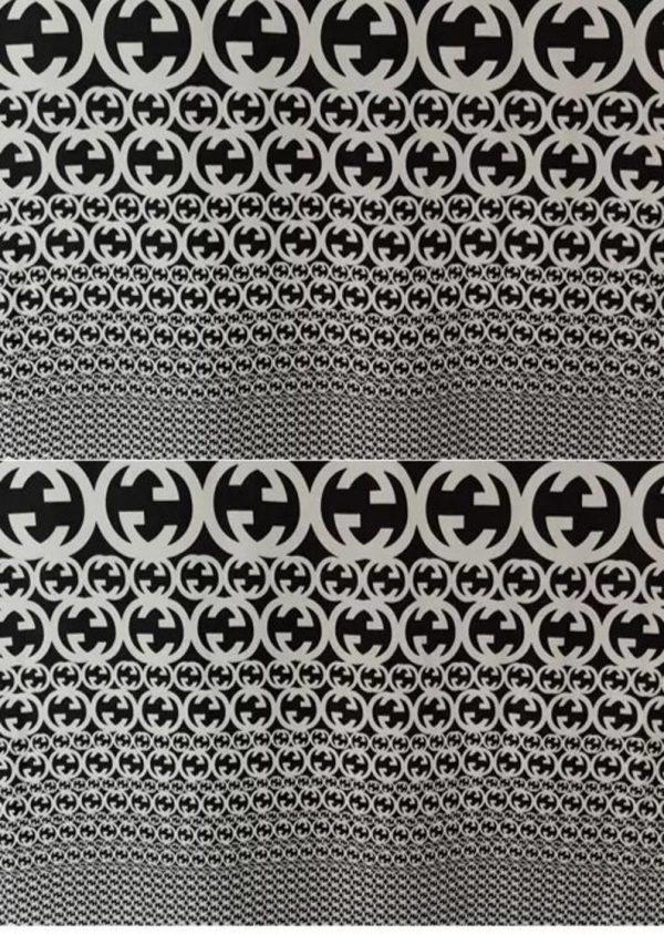 Gucci Fabric 100%Mulberry Silk Italian Fabric GG logo/Limited Quantity/Haute Couture Fabric/Fashion Week fabric/Haute Couture Gucci Fabric 8