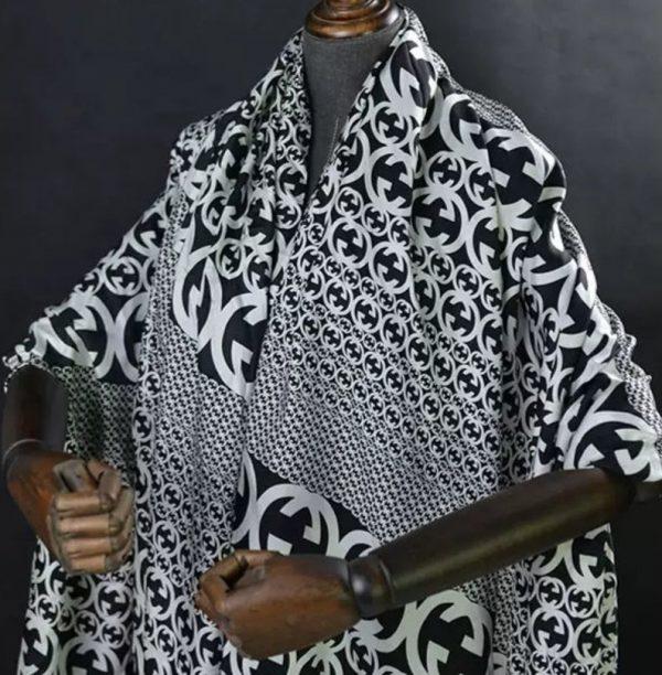 Gucci Fabric 100%Mulberry Silk Italian Fabric GG logo/Limited Quantity/Haute Couture Fabric/Fashion Week fabric/Haute Couture Gucci Fabric 3
