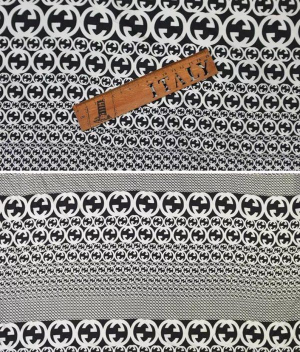 Gucci Fabric 100%Mulberry Silk Italian Fabric GG logo/Limited Quantity/Haute Couture Fabric/Fashion Week fabric/Haute Couture Gucci Fabric 9