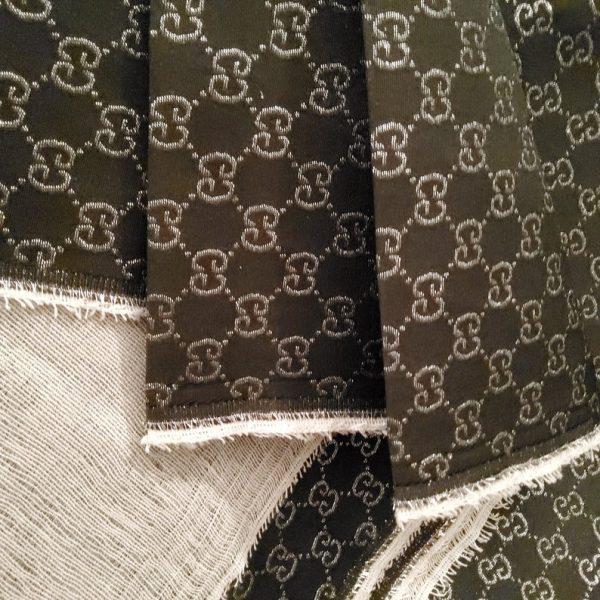 Gucci Jacquard Monogram BLACK Silver Logo/ Exclusive Fabric/Jacket Jacquard Gold Yarn /Gucci Couture Dress Fabric Various Colours Available 8 ⋆ Rozitta Rapetti