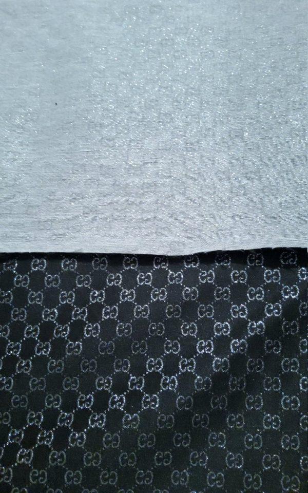 Gucci Jacquard Monogram BLACK Silver Logo/ Exclusive Fabric/Jacket Jacquard Gold Yarn /Gucci Couture Dress Fabric Various Colours Available 10 ⋆ Rozitta Rapetti