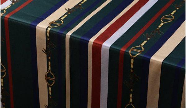 New!Designer Italian Fabric Pure Silk Stretch colour#2 Top Quality/Alta moda Mulberry Silk 19 momme 108cm fabric/Chain and Belt Print 5