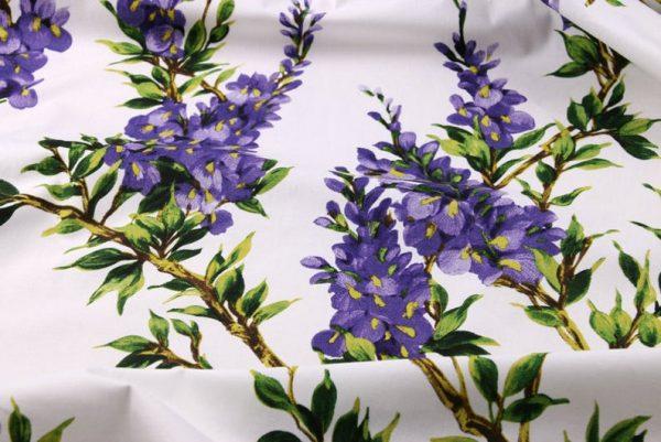 Italian Cotton 100% Beautiful Lilac wisteria Flowers Print Fabric/Organic Cotton Fabric/Poplin Digital Print Cotton Fabric In 4 Colours 2