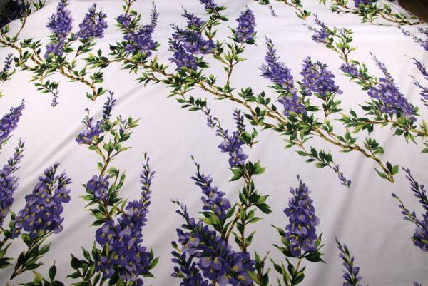 Italian Cotton 100% Beautiful Lilac wisteria Flowers Print Fabric/Organic Cotton Fabric/Poplin Digital Print Cotton Fabric In 4 Colours 6