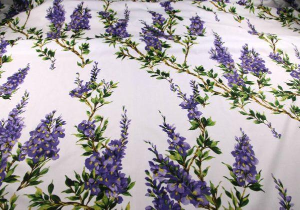 Italian Cotton 100% Beautiful Lilac wisteria Flowers Print Fabric/Organic Cotton Fabric/Poplin Digital Print Cotton Fabric In 4 Colours 3