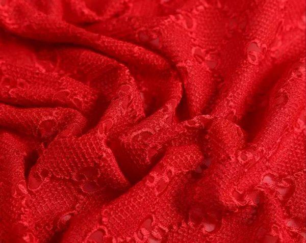 gucci lace dress red