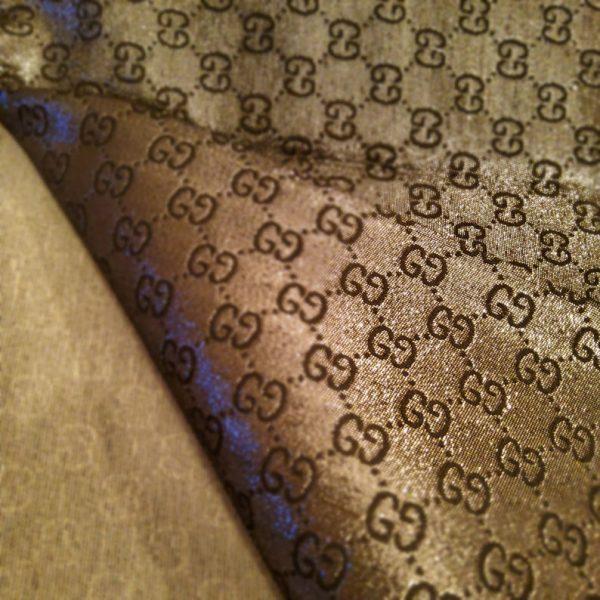 NEW! Very Rare Gucci Jacquard Black Logo Shiny Dark Gray GRAY Pattern/Colours Available Please check/Gucci Upholstery Jacquard 4