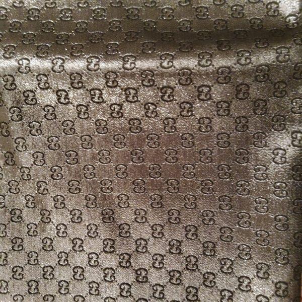 NEW! Very Rare Gucci Jacquard Black Logo Shiny Dark Gray GRAY Pattern/Colours Available Please check/Gucci Upholstery Jacquard 5