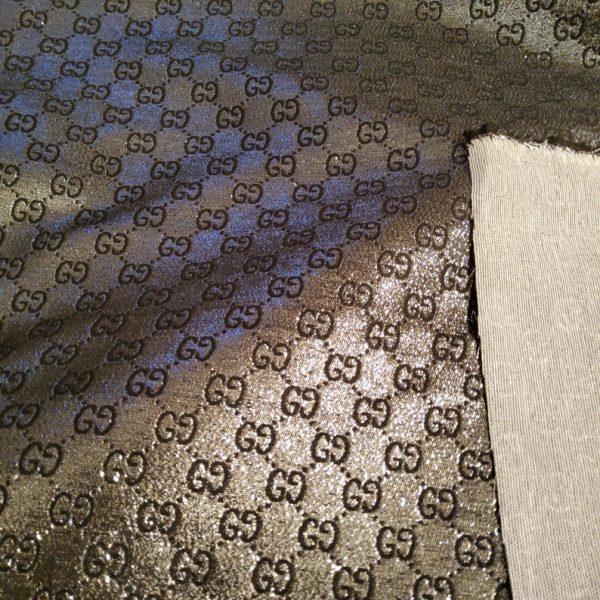 NEW! Very Rare Gucci Jacquard Black Logo Shiny Dark Gray GRAY Pattern/Colours Available Please check/Gucci Upholstery Jacquard 2