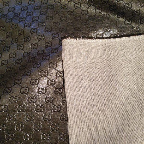 NEW! Very Rare Gucci Jacquard Black Logo Shiny Dark Gray GRAY Pattern/Colours Available Please check/Gucci Upholstery Jacquard 3