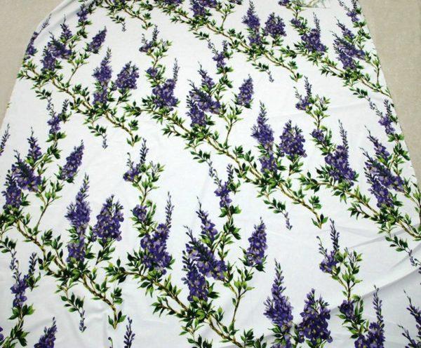 Italian Cotton 100% Beautiful Lilac wisteria Flowers Print Fabric/Organic Cotton Fabric/Poplin Digital Print Cotton Fabric In 4 Colours 1