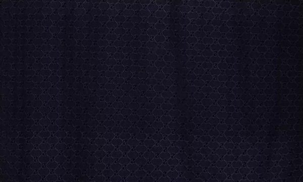 Gucci Silk Embroidery Cotton base Lace #1 Dark Navy Fabric/Italian GG Logo Embroidered Fabric/Couture Lace Fabric 4 colours available 9