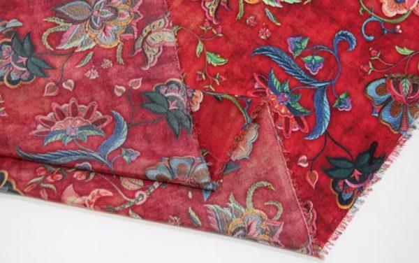 20191209 150021 Exclusive New Collection Oscar De La Renta #6 Mulberry Silk Italian Fabric/Haute Couture Fabric 100% Silk Digital Inkjet /Fashion Fabric 1