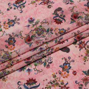 Exclusive New Collection Oscar De La Renta #4 Mulberry Silk Italian Fabric/Haute Couture Fabric 100% Silk Digital Inkjet /Fashion Fabric