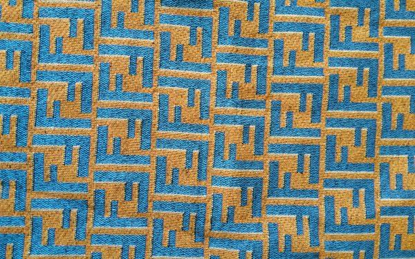 Fendi Jacquard Fabric Clothing and Upholstery 30%Cotton 70 Polyester 340gr width 145cm/BLUE letter Print Fendi Brocade Fabric Varies Colours 1 ⋆ Rozitta Rapetti