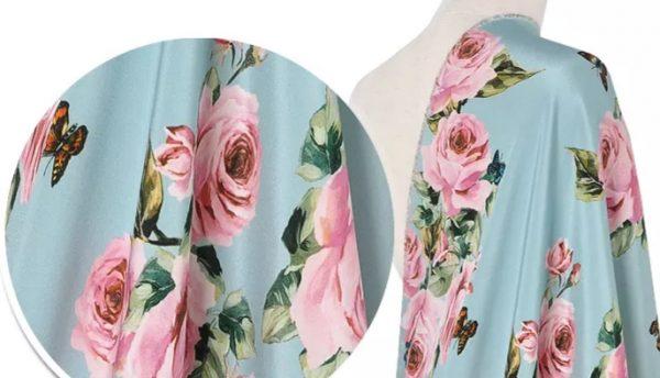Dolce Gabbana Silk Spandex Fabric