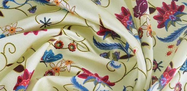 20191228 135116 New Collection! OSCAR DE LA RENTA SILK FABRIC,FASHION SHOW ITALIAN DESIGNER FABRIC 8