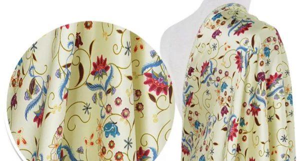 20191228 135304 New Collection! OSCAR DE LA RENTA SILK FABRIC,FASHION SHOW ITALIAN DESIGNER FABRIC 1