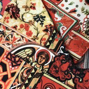 Etro Silk Fabric,Inkjet Etro fabric New Collection,Italian Designer Rare Fabric