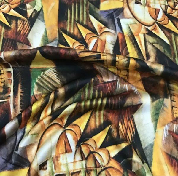 20191228 185519 Italian Designer Silk Fabric Art Work/Abstract Painted Silk Fabric 1