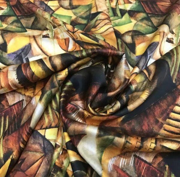20191228 185535 Italian Designer Silk Fabric Art Work/Abstract Painted Silk Fabric 2