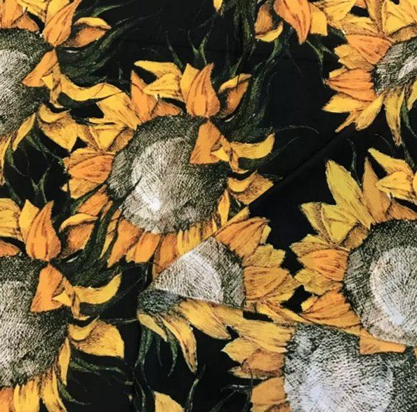 20191228 190147 Van Gogh Silk Fabric/Italian Designer Silk Fabric Depicting Van Gogh Art Works/Italian inkjet silk fabric 2