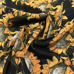 Van Gogh Silk Fabric/Italian Designer Silk Fabric Depicting Van Gogh Art Works/Italian inkjet silk fabric