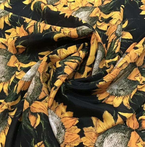 20191228 190218 Van Gogh Silk Fabric/Italian Designer Silk Fabric Depicting Van Gogh Art Works/Italian inkjet silk fabric 1