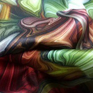 Italian Designer Silk Fabric Inkjet Technique/Art Designer Fabric/Limited Edition Silk Fabric Fashion Week Silk