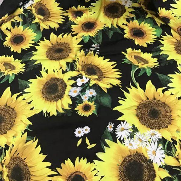 Fabric Sunflowers Pattern
