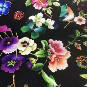 Italian Couture Silk Fabric/Inkjet Silk Fabric/ 19momme Art Work Silk Fabric/Exclusive Italian Fabrics