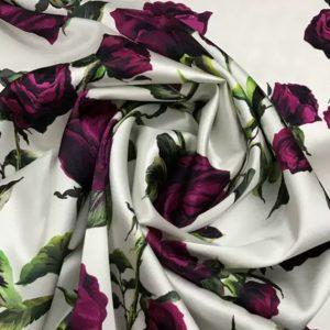 Italian Couture Silk Fabric/Inkjet Silk Fabric/ 19momme Art Work Silk Fabric/Exclusive Italian Fabrics/Limited Edition
