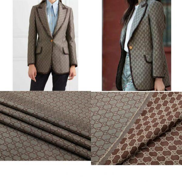 New! Gucci Jacquard Cotton Clothing Fabric,Upholstery Jacquard GG logo Print/ Various Colours Available Please check/ Italian Bag Jacquard 1