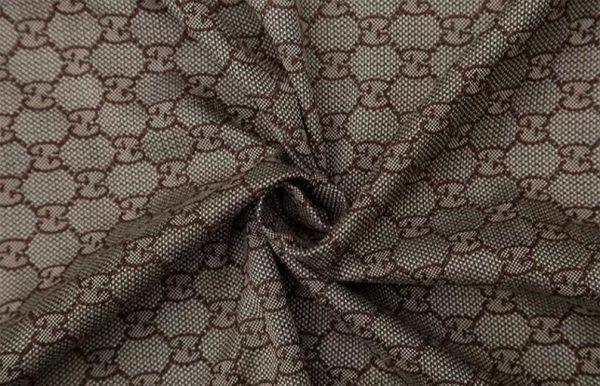 New! Gucci Jacquard Cotton Clothing Fabric,Upholstery Jacquard GG logo Print/ Various Colours Available Please check/ Italian Bag Jacquard 2