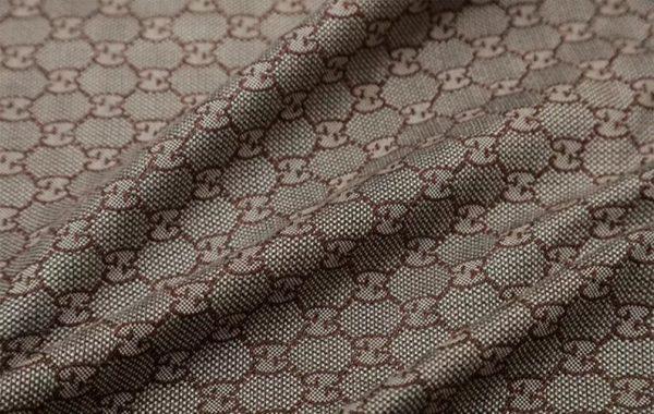 New! Gucci Jacquard Cotton Clothing Fabric,Upholstery Jacquard GG logo Print/ Various Colours Available Please check/ Italian Bag Jacquard 3