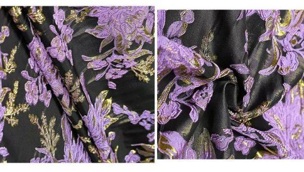 New Collection 3D Italian Designer Jacquar Fabric Nylon,Polyester,,metal thread Fabric Haute Couture Jacquard Brocade VERY RARE Limited 1