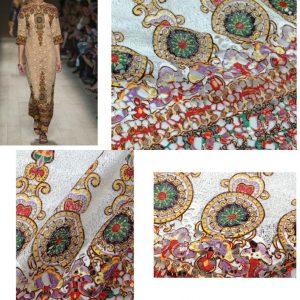Valentino Catwalk Silk 3D Lace