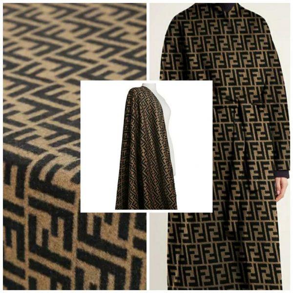 Fendi Italian Designer Fabric Fendi Double Cashmere Wool width 150cm/weight 850gr Fendi fabric for coat,clothing,upholstery fendi jacquard 1
