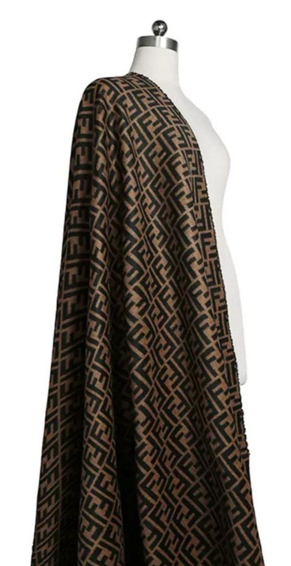 Fendi Italian Designer Fabric Fendi Double Cashmere Wool width 150cm/weight 850gr Fendi fabric for coat,clothing,upholstery fendi jacquard 6