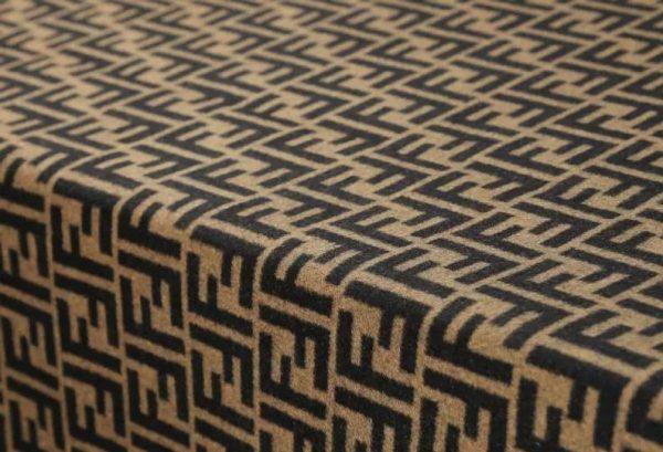Fendi Italian Designer Fabric Fendi Double Cashmere Wool width 150cm/weight 850gr Fendi fabric for coat,clothing,upholstery fendi jacquard 7