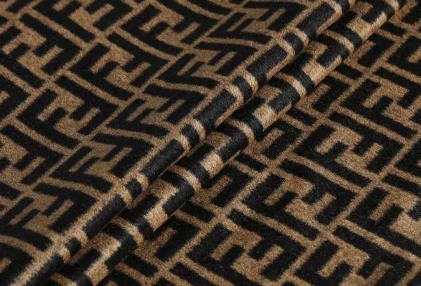 Fendi Italian Designer Fabric Fendi Double Cashmere Wool width 150cm/weight 850gr Fendi fabric for coat,clothing,upholstery fendi jacquard 2