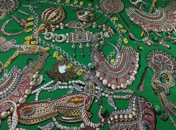 Double Silk Stretch Satin Inkjet 19momme Italian Authentic Designer Fabric Fashion 95% silk 5spandex/Inkjet Jewellery print Fabric 3