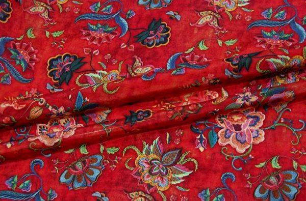 Exclusive New Collection Oscar De La Renta #6 Mulberry Silk Italian Fabric/Haute Couture Fabric 100% Silk Digital Inkjet /Fashion Fabric 4