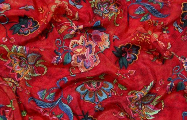 Exclusive New Collection Oscar De La Renta #6 Mulberry Silk Italian Fabric/Haute Couture Fabric 100% Silk Digital Inkjet /Fashion Fabric 5
