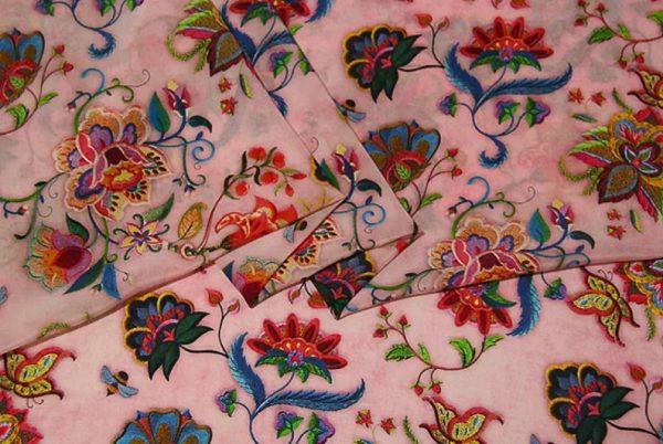 Exclusive New Collection Oscar De La Renta #7 Mulberry Silk Italian Fabric/Haute Couture Fabric 100% Silk Digital Inkjet /Fashion Fabric 1