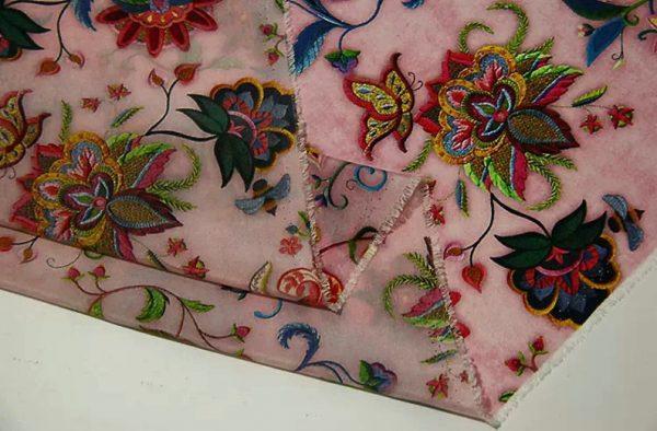 Exclusive New Collection Oscar De La Renta #7 Mulberry Silk Italian Fabric/Haute Couture Fabric 100% Silk Digital Inkjet /Fashion Fabric 3