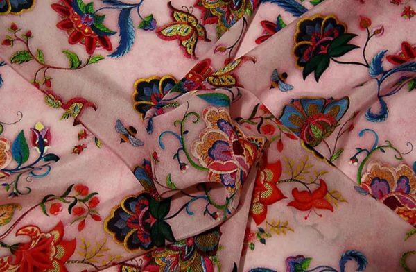 Exclusive New Collection Oscar De La Renta #7 Mulberry Silk Italian Fabric/Haute Couture Fabric 100% Silk Digital Inkjet /Fashion Fabric 2